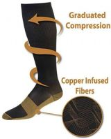 Medichi Copper Infused Travel Flight DVT Sports  Anti Fatigue Compression Foot Sleeve Support